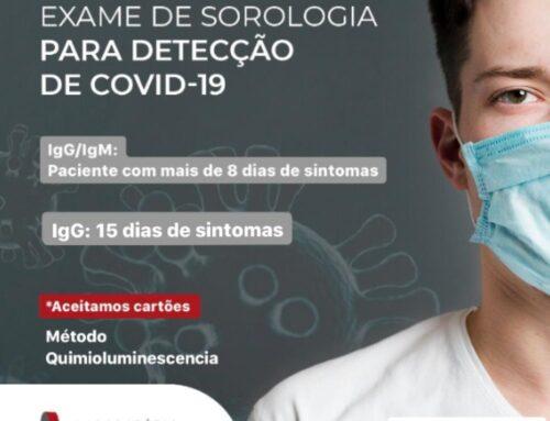 Exame de Sorologia para detecção de COVID-19